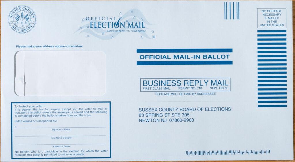 Front return envelope