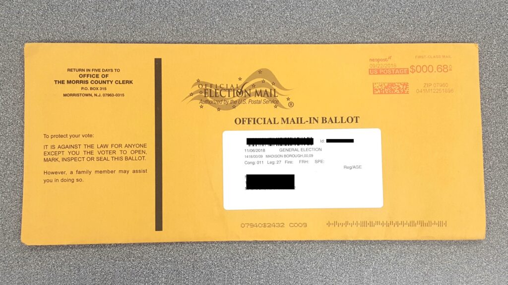 """Outer Envelope """"Official Mail-in Ballot"""""""